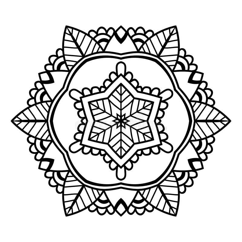 Mandala floreale nera royalty illustrazione gratis