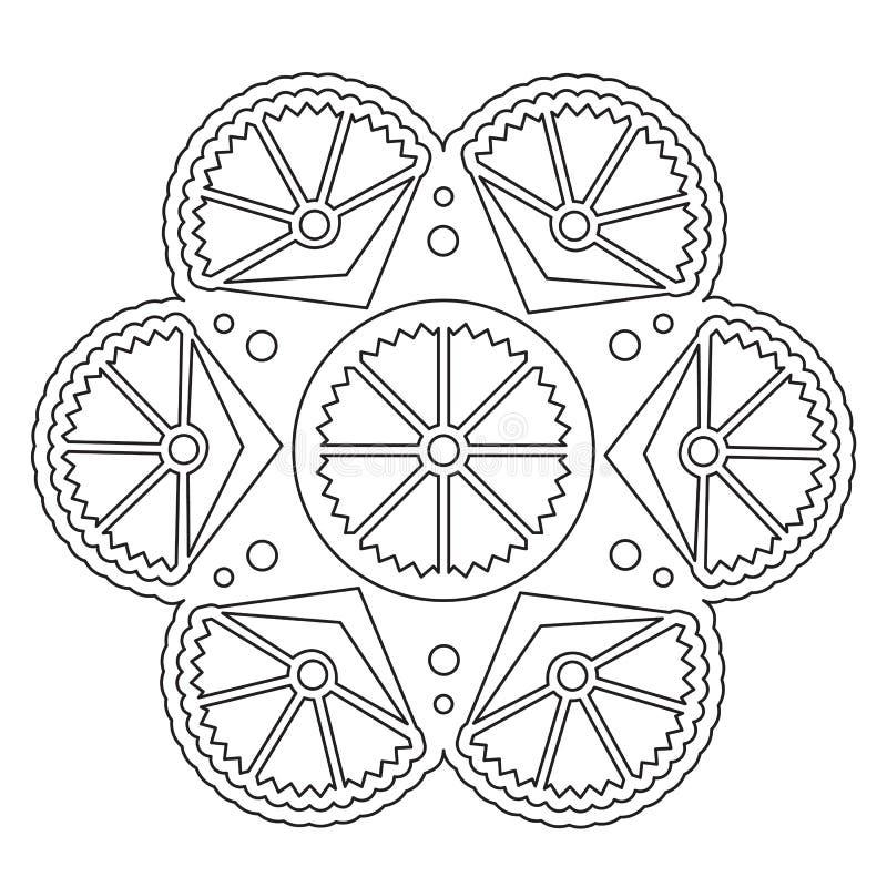 Mandala floreale semplice di coloritura royalty illustrazione gratis
