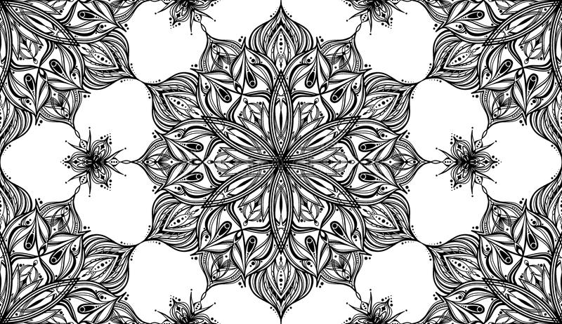 Mandala Flower Pattern - Tileable bakgrund royaltyfri foto