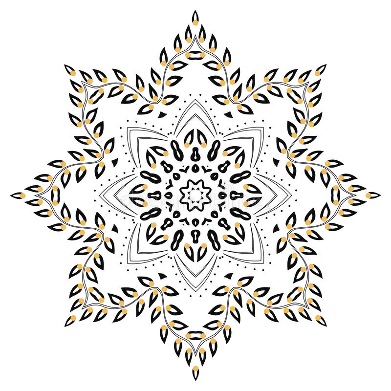 Mandala foliage royalty free illustration