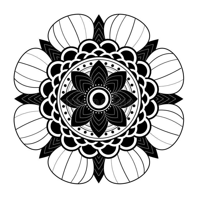 mandala Fondo decorativo etnico degli elementi illustrazione vettoriale
