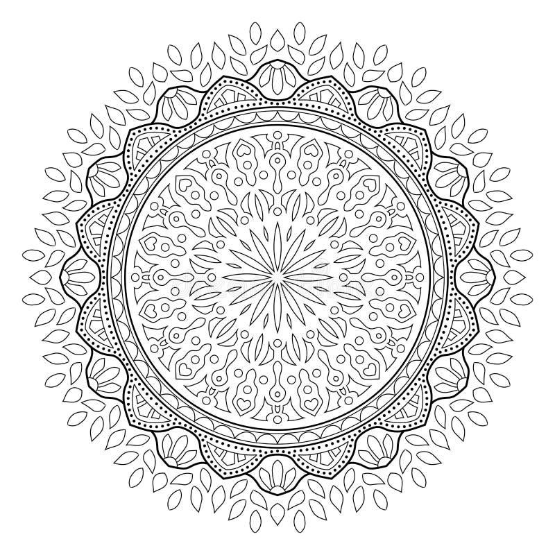 Mandala frondosa indiana isolada imagens de stock royalty free