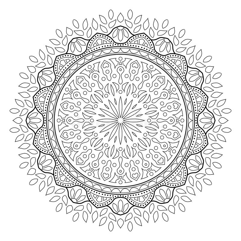 Mandala frondosa indiana isolata immagini stock libere da diritti