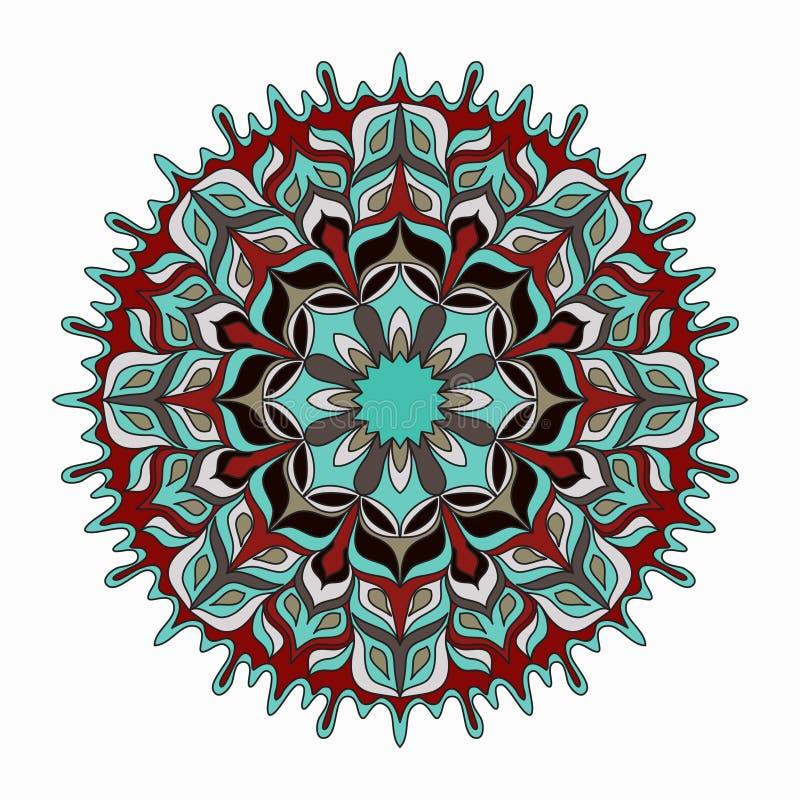 mandala gekleurde Uitstekende decoratieve elementen royalty-vrije illustratie