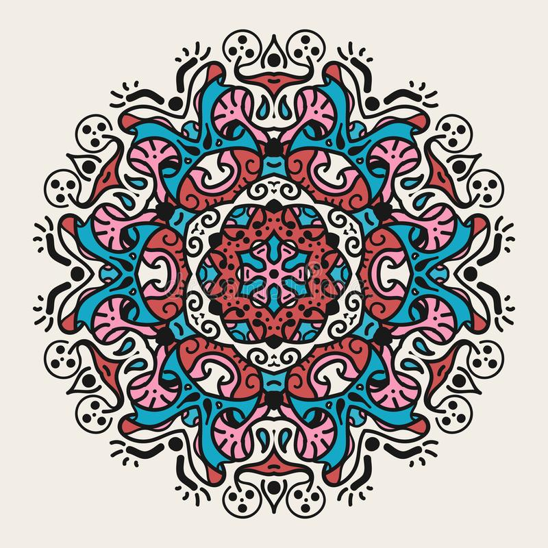 Mandala geométrica antigua imagen de archivo libre de regalías