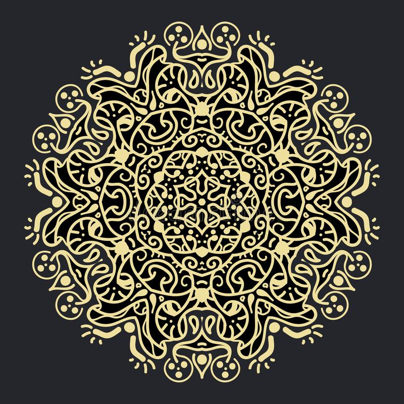 Mandala geométrica antigua fotografía de archivo libre de regalías
