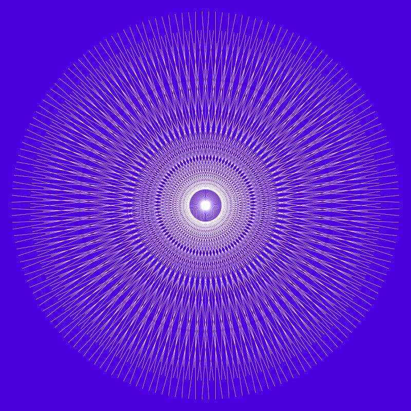 Mandala geométrica/arte sagrado da geometria, patt geométrico circular ilustração stock