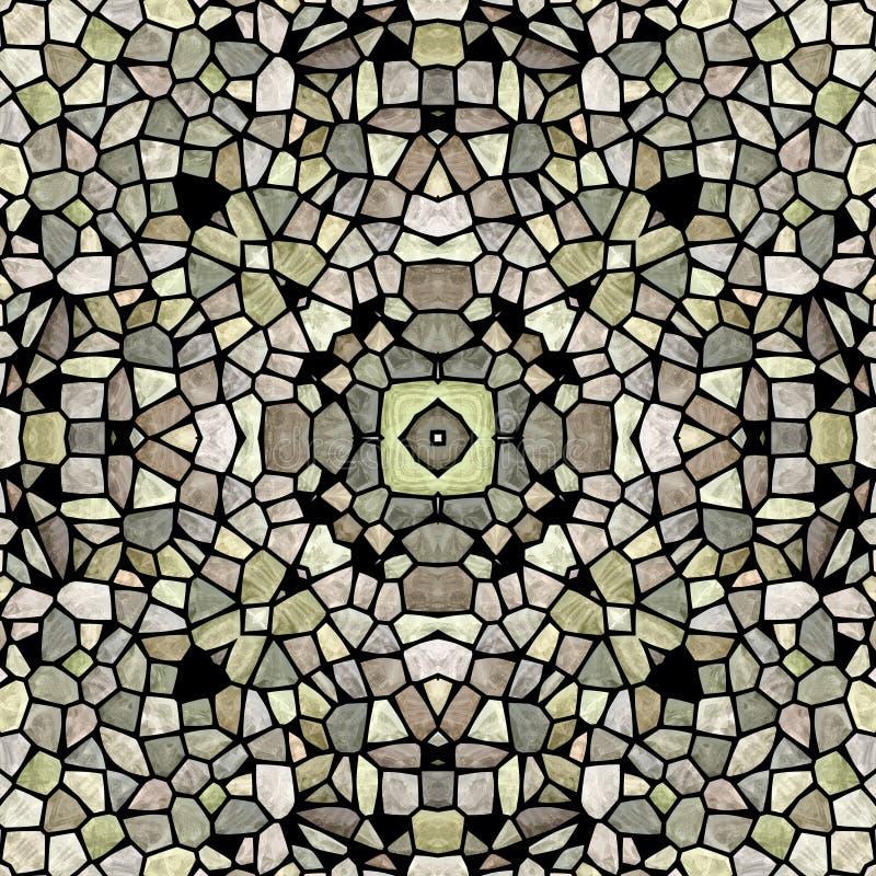 Mandala geométrica redonda del caleidoscopio del triángulo libre illustration