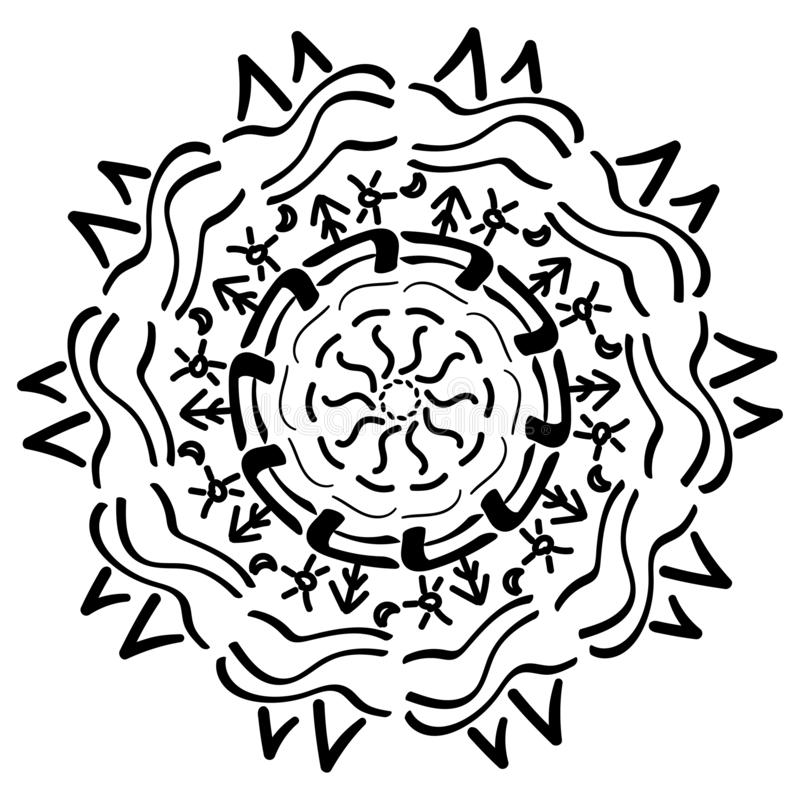 Mandala geometric ornament royalty free illustration