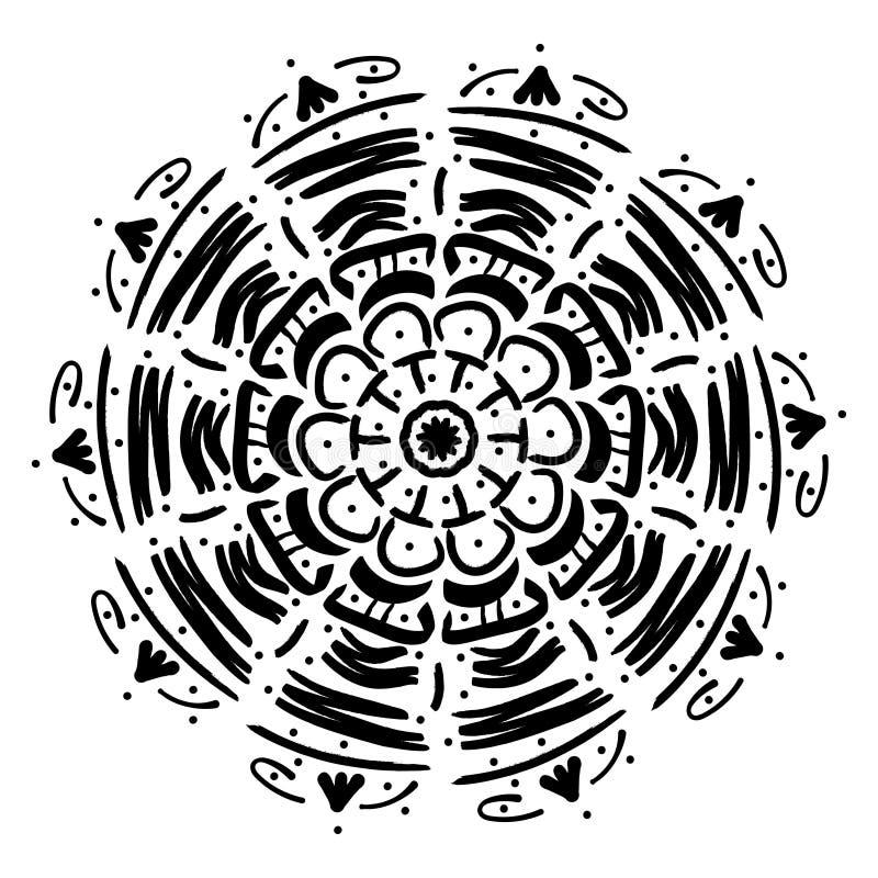 Mandala geometrisch ornament stock illustratie
