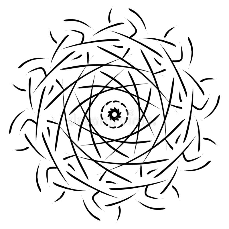 Mandala geometrisch ornament stock illustratie
