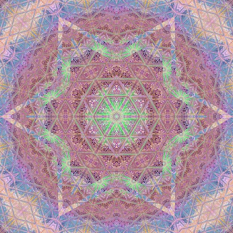 Mandala geometrisch rond ornament, stammen etnisch Arabisch Indisch motief royalty-vrije illustratie