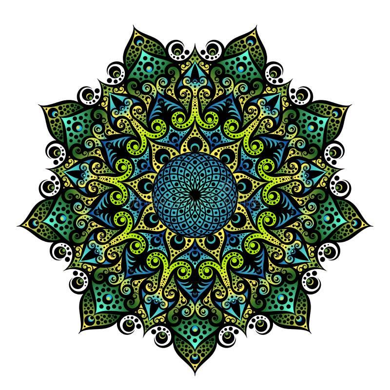 Mandala geometrisch rond ornament, stammen etnisch Arabisch Indisch motief vector illustratie