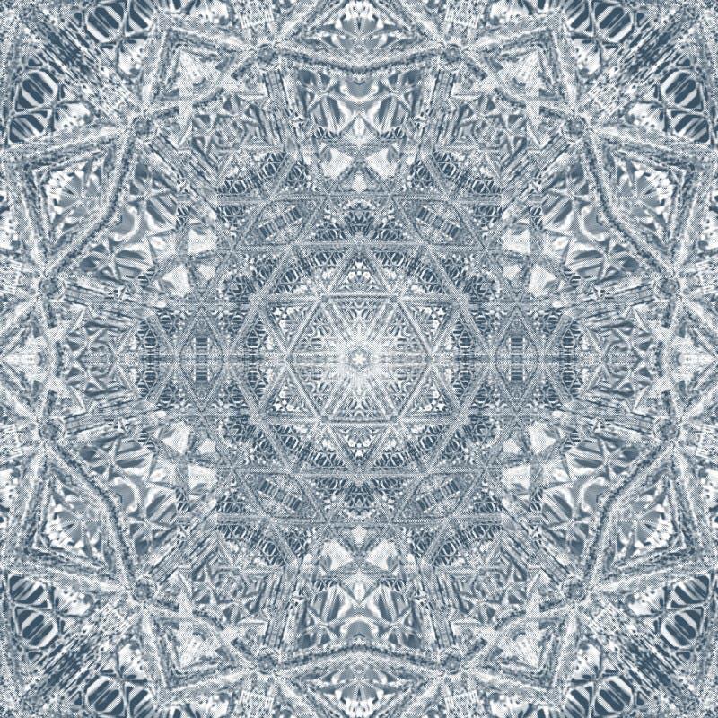 Mandala geometrisch rond zwart-wit ornament arabesque stock illustratie