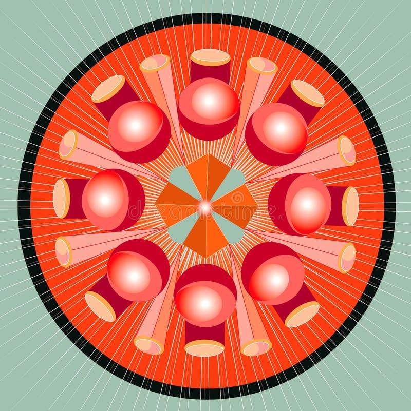 Mandala geometry spectrum stock illustration