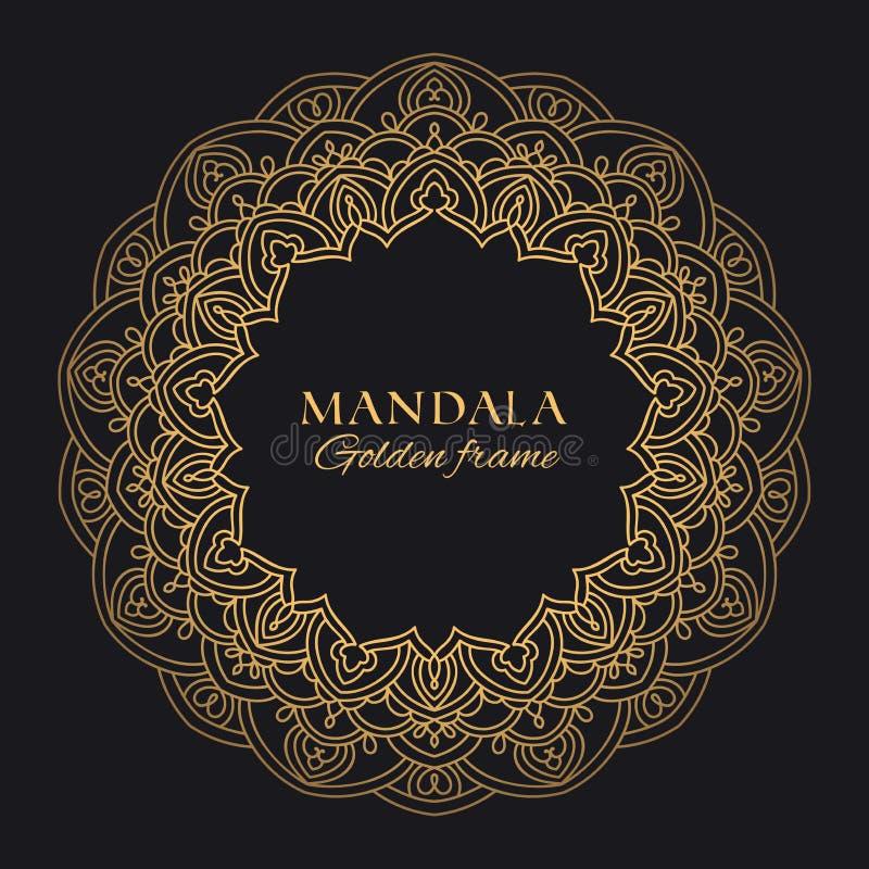 Mandala vector geometric round frame. Oriental ornament luxury design vector illustration