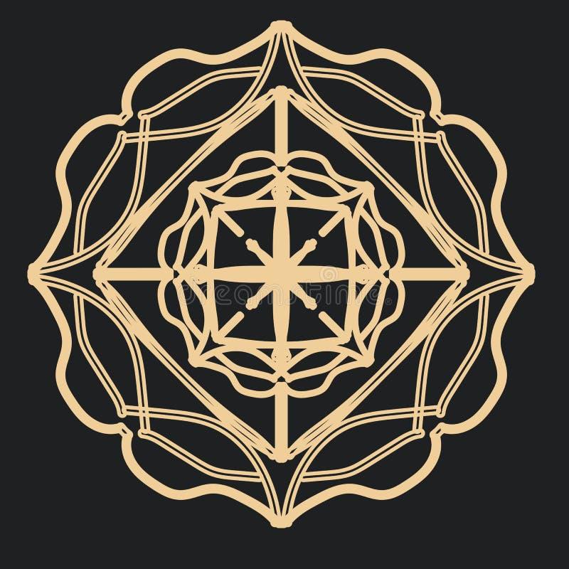 Mandala gothique de dentelle pour des tatouages illustration stock
