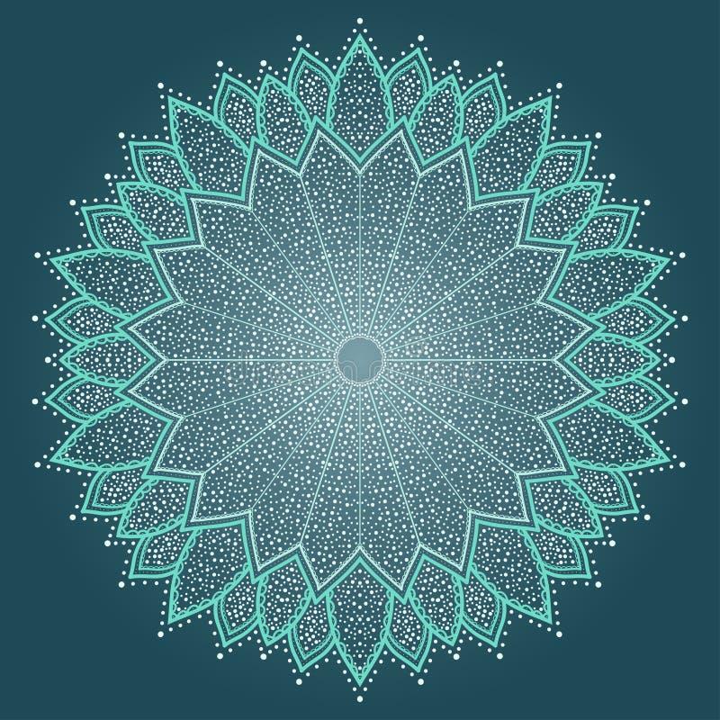 Mandala. Härlig hand dragen blomma. royaltyfri illustrationer