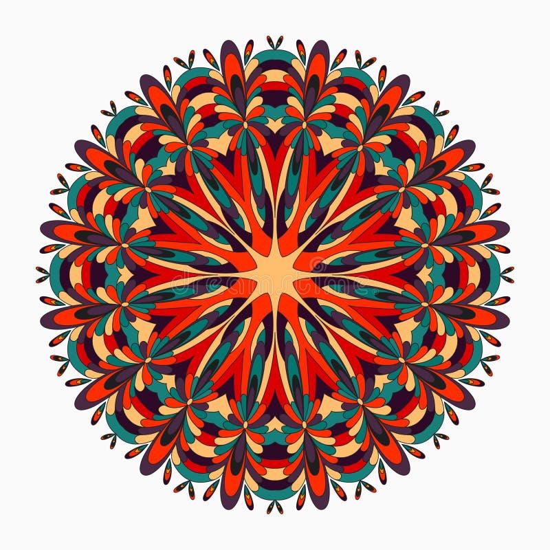 mandala härliga tappningbeståndsdelar också vektor för coreldrawillustration stock illustrationer