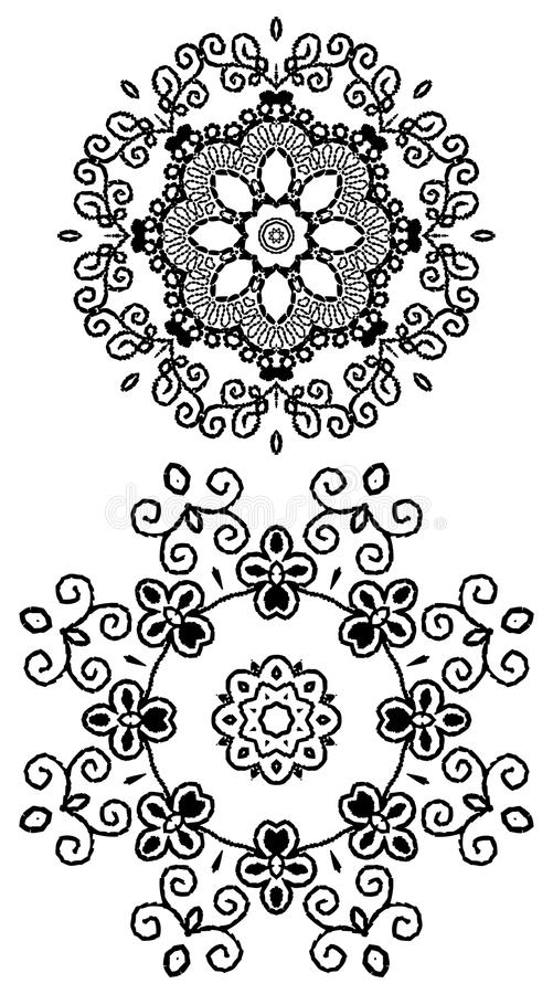 Free Mandala Henna Stock Photography - 41411002