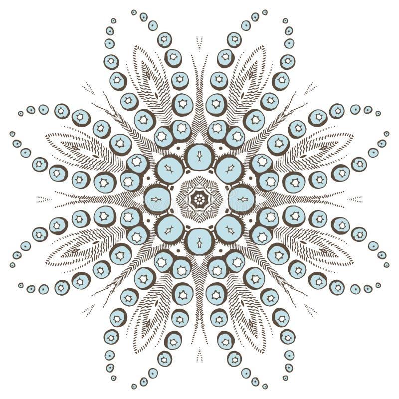 Mandala henna design fashion royalty free illustration