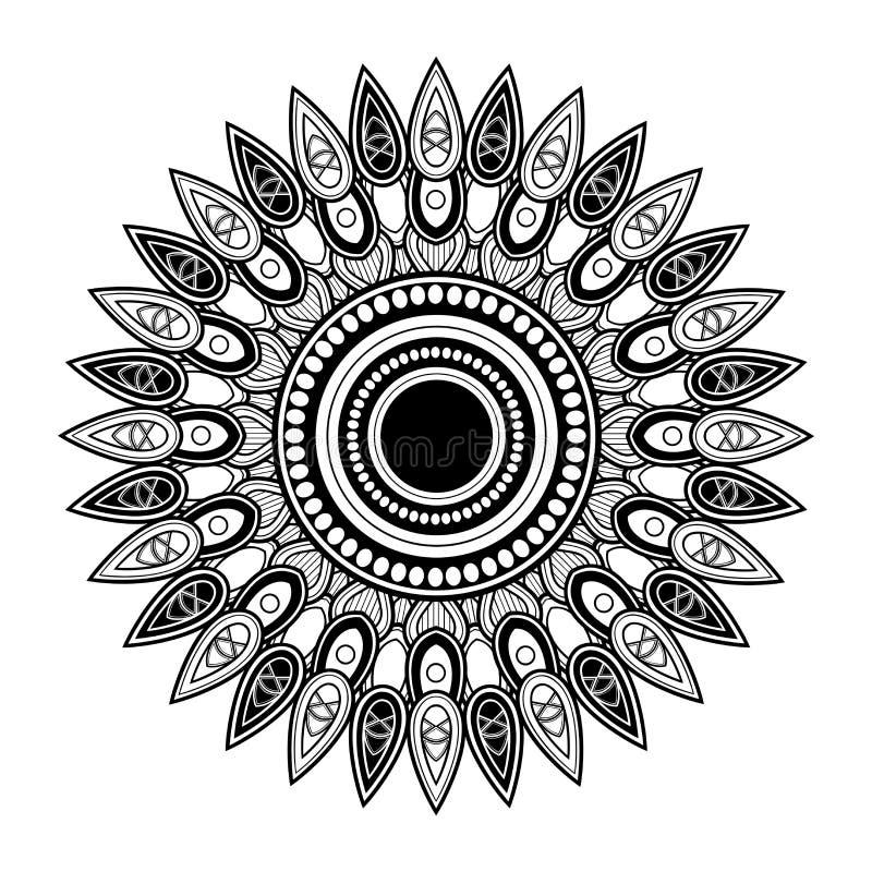 Mandala hermosa de Deco del vector ilustración del vector