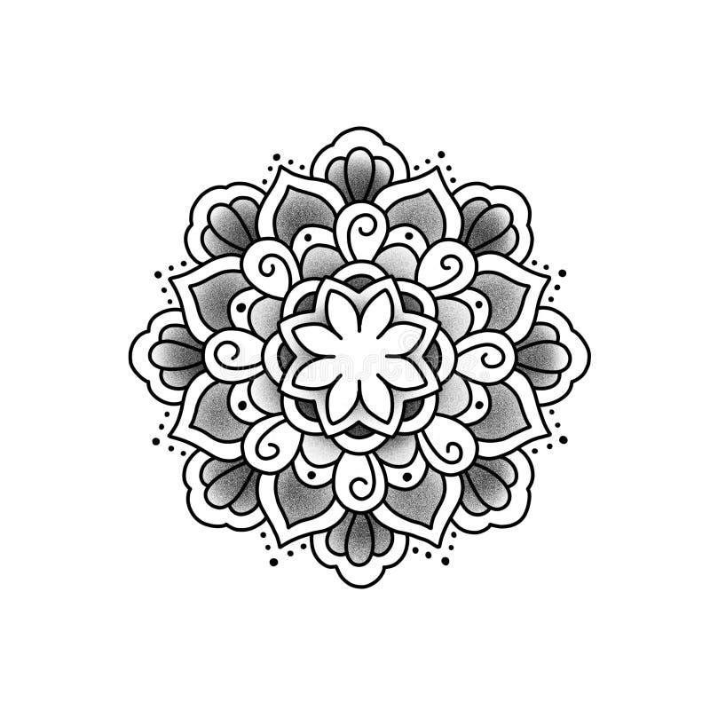 Mandala hermosa de la flor fotografía de archivo libre de regalías