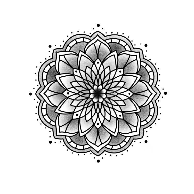 Mandala hermosa de la flor fotos de archivo