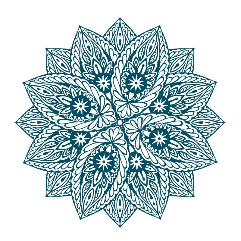 Mandala hermosa del vector Ornamento floral étnico decorativo libre illustration