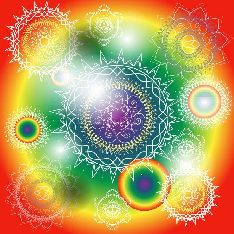 Mandala heureux illustration stock