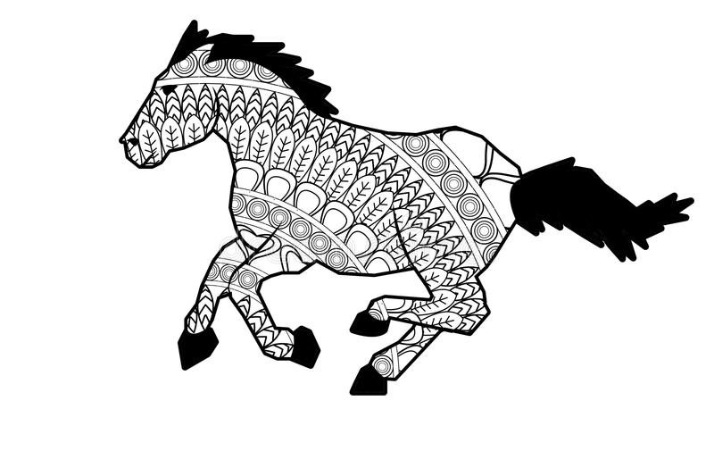 Anti Stress Kleurplaten Dieren Mandala Horse Icon Stock Photo Image Of Pixel Riding