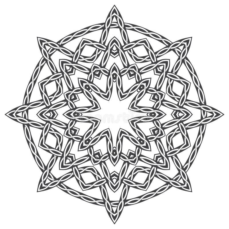 Mandala i celtic stil stock illustrationer