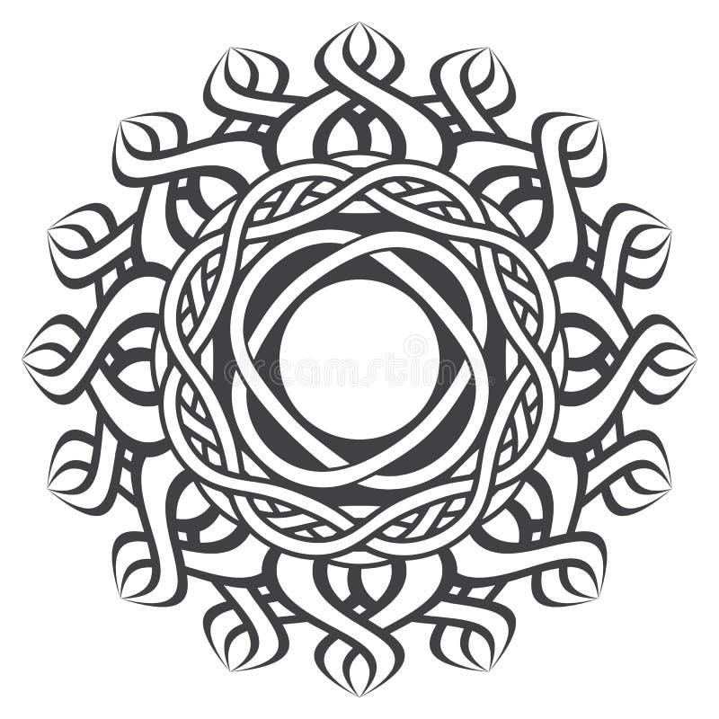 Mandala i esoterisk stil royaltyfri illustrationer
