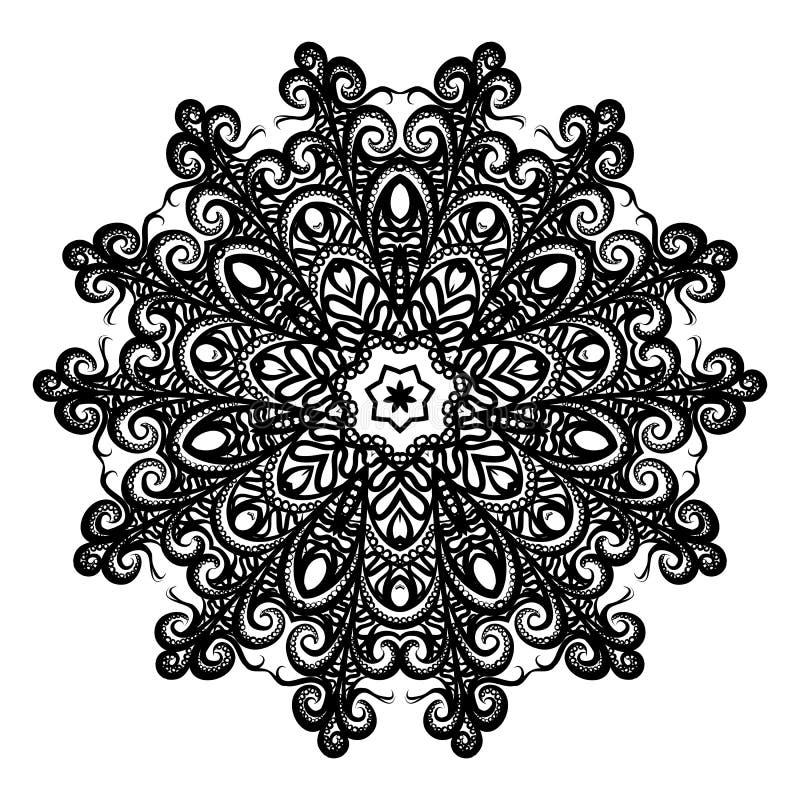 Mandala Illustration p? vit bakgrund stock illustrationer