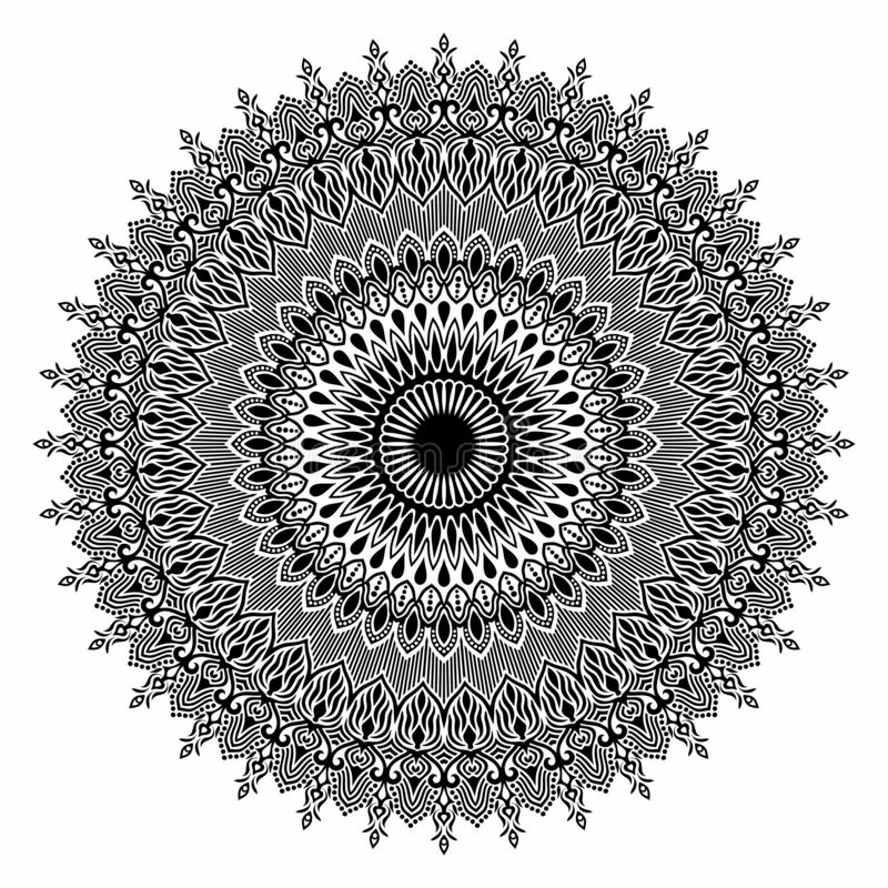 Beautiful Deco Mandala Vector. royalty free stock images