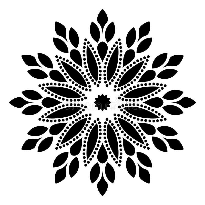 Mandala Illustration Swirl, im weißen Hintergrund vektor abbildung