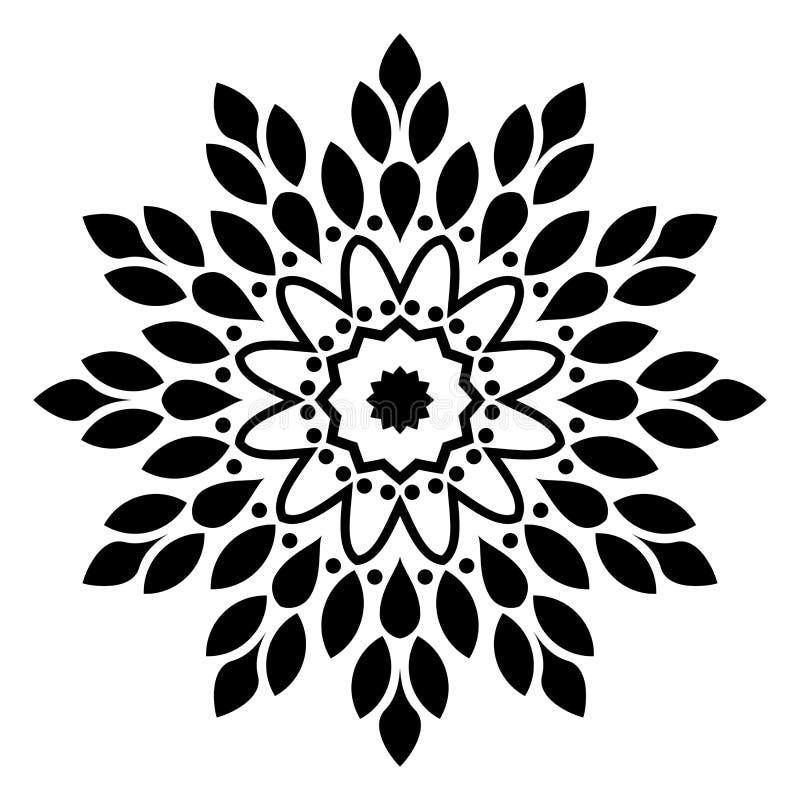 Mandala Illustration Swirl, im weißen Hintergrund stock abbildung