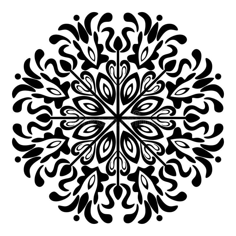 Mandala Illustration Vector noire et blanche illustration libre de droits