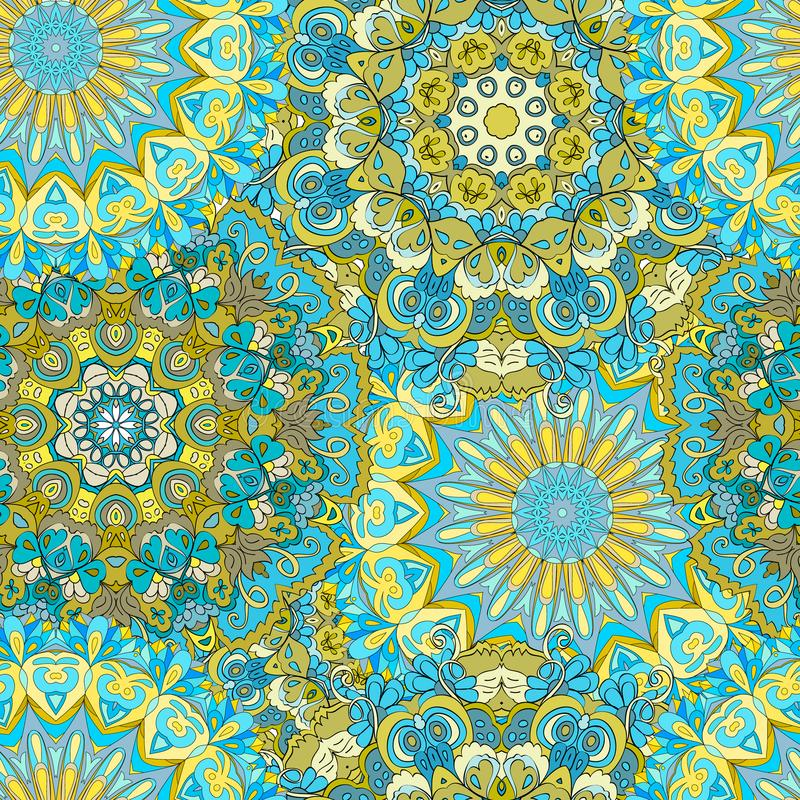 Mandala inconsútil colorida del modelo libre illustration