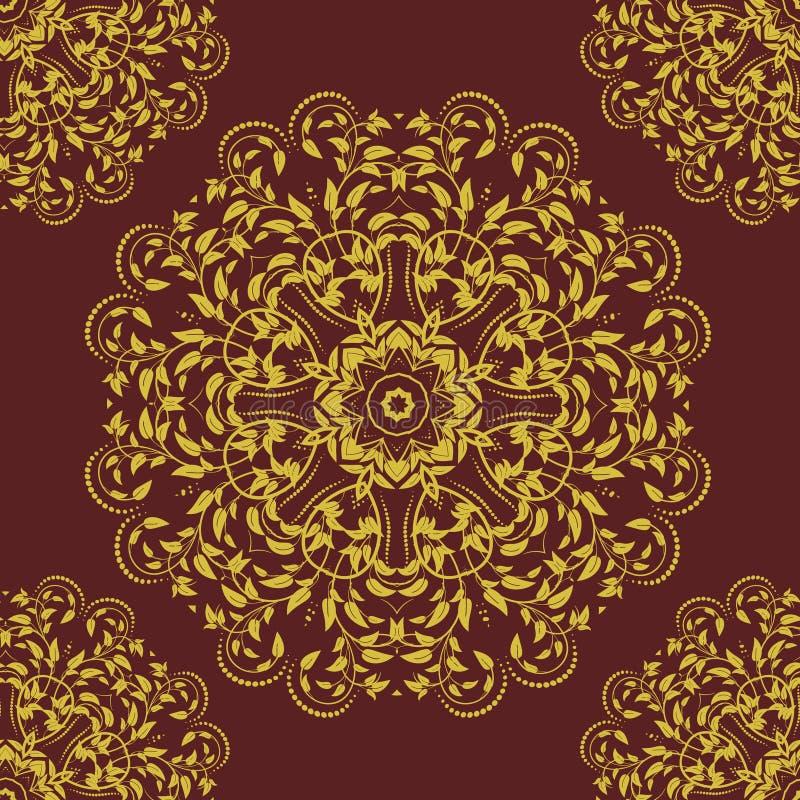 Mandala inconsútil del modelo ilustración del vector