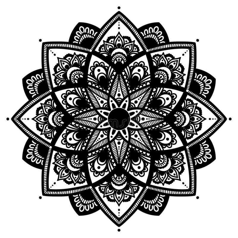 Download Mandala Indian Antistress Medallion Abstract Islamic Flower Arabic Henna Design Yoga