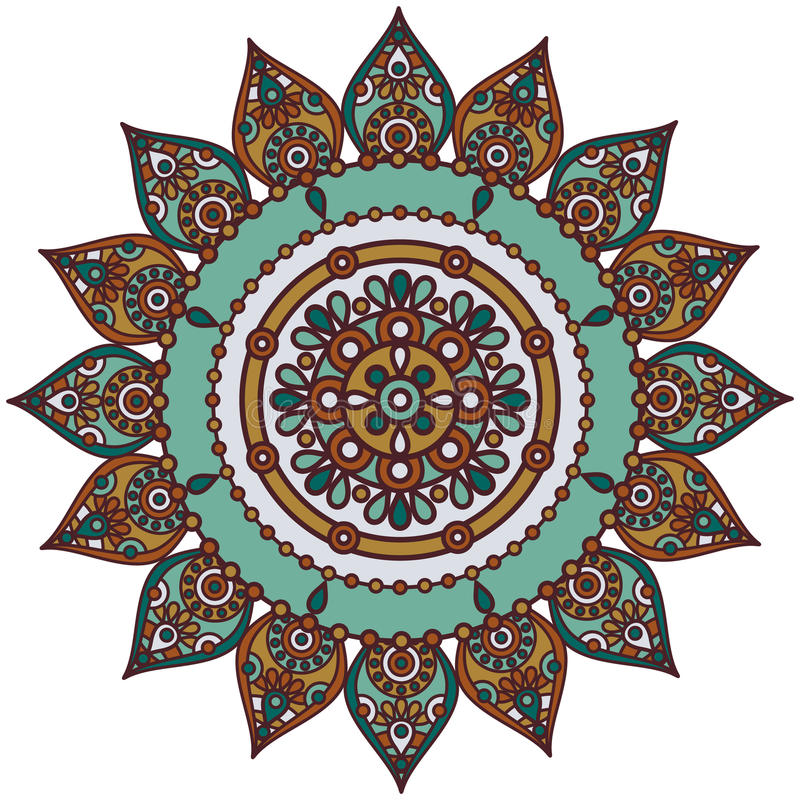 Mandala indiana ilustração do vetor