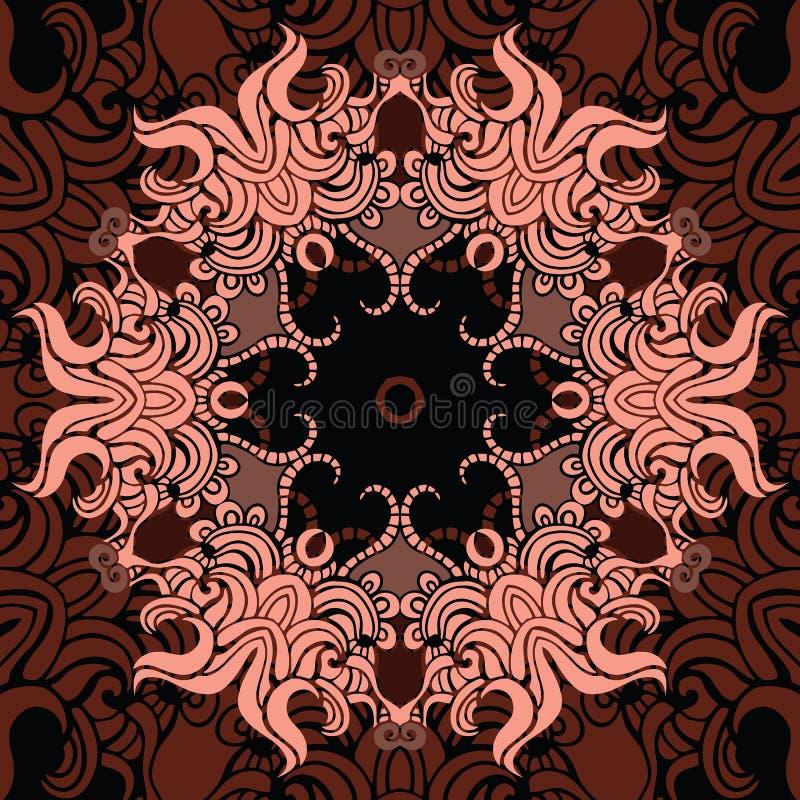 Mandala. Indisch decoratief patroon. stock illustratie
