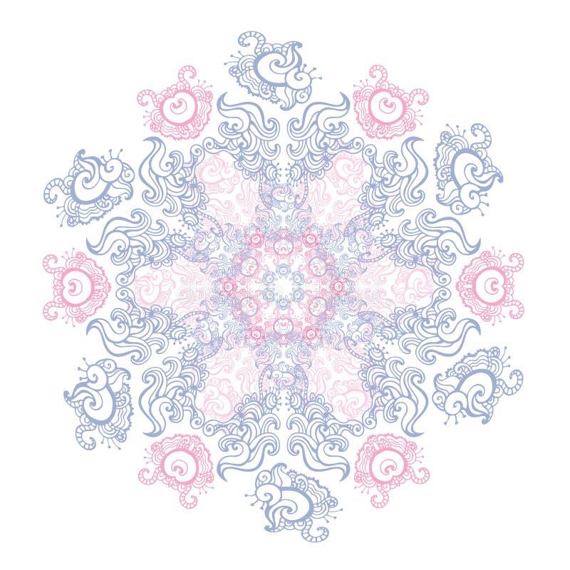 mandala Indisch decoratief patroon stock illustratie