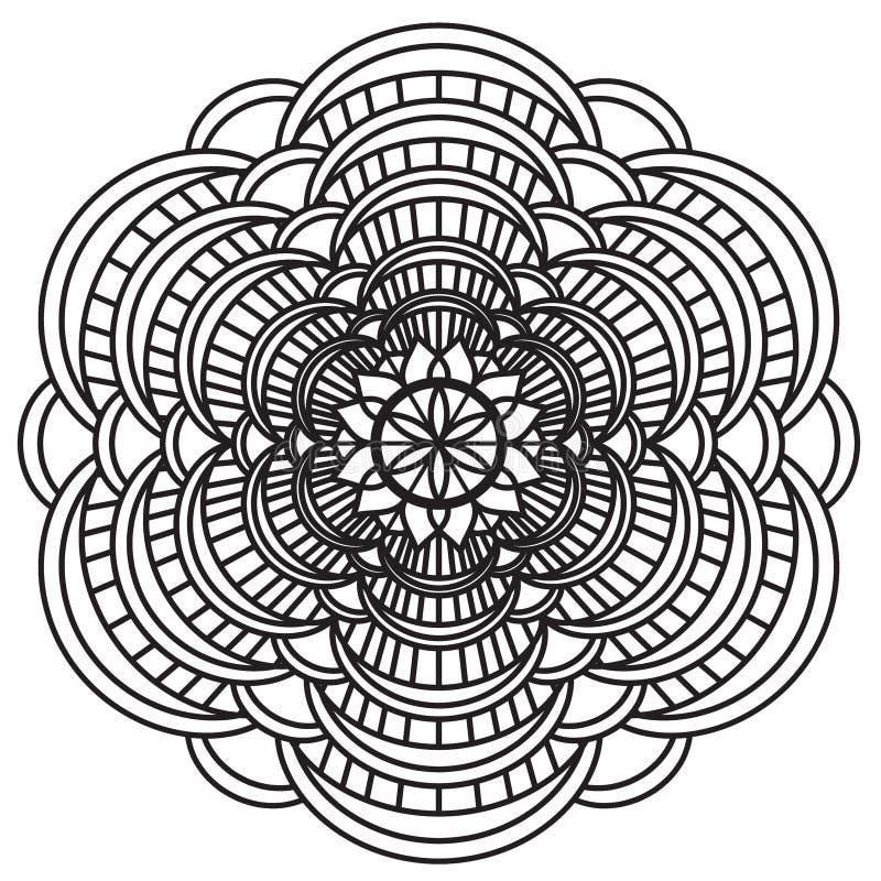 Mandala Intricate Patterns Black et blanc illustration libre de droits