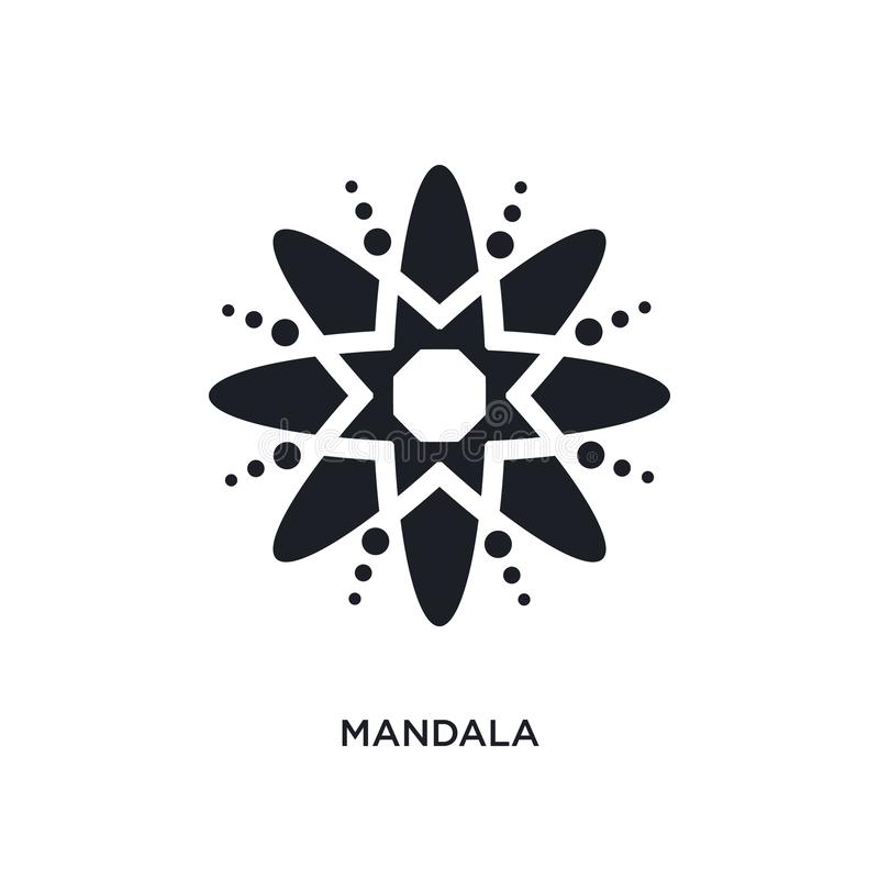 Mandala isolated icon. simple element illustration from india concept icons. mandala editable logo sign symbol design on white. Background. can be use for web royalty free illustration