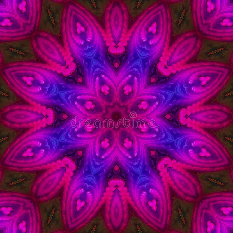 Mandala kaleidoscope, abstract digital colorful design, oriental fantasy. Mandala kaleidoscope, abstract digital design oriental fantasy colorful vector illustration