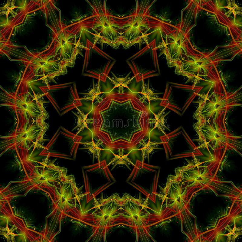 Mandala kaleidoscope, abstract pattern creative digital colorful design, oriental fantasy. Mandala kaleidoscope, abstract digital design oriental fantasy vector illustration