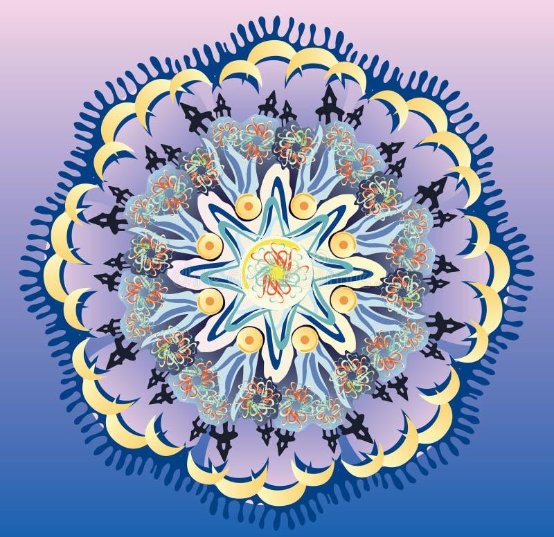 Mandala księżyc obraz royalty free