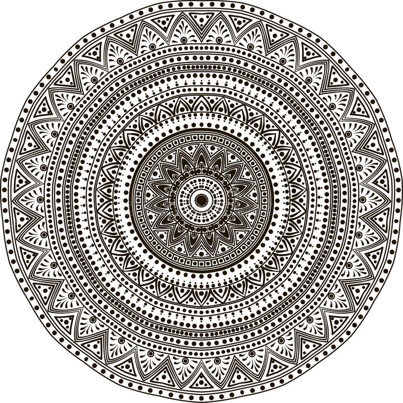 The Mandala line art vector illustration